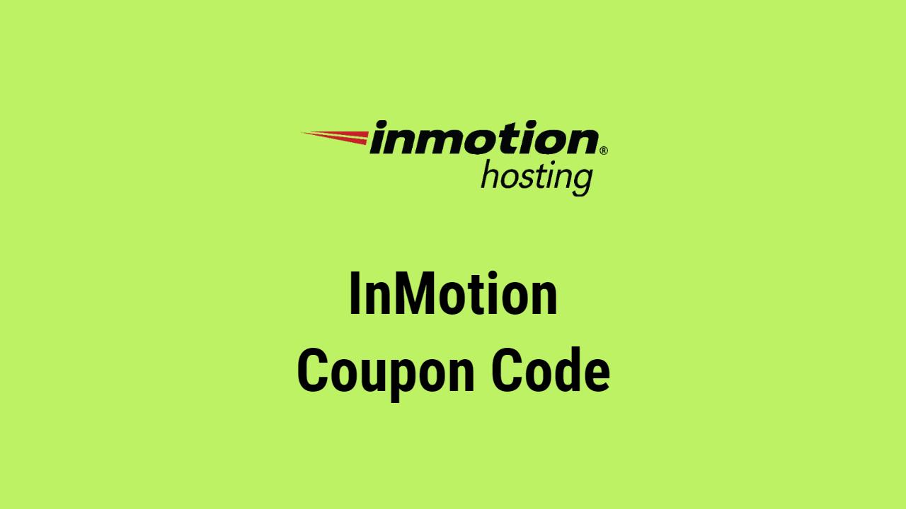 InMotion Coupon Code