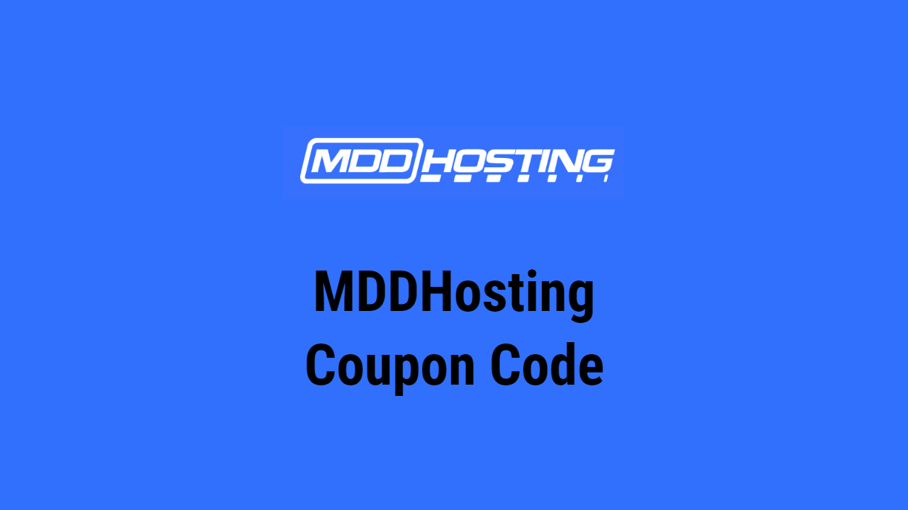 MDDHosting Coupon Code