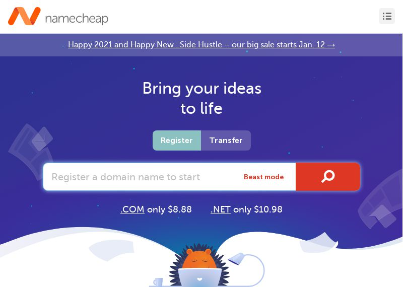 Namecheap Affordable services
