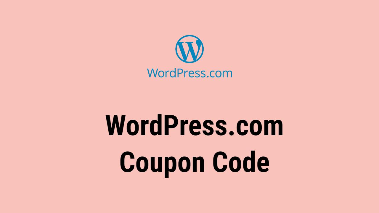 WordPress.com Coupon Code