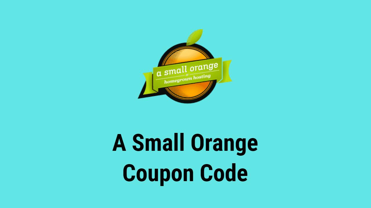 A Small Orange Coupon Code