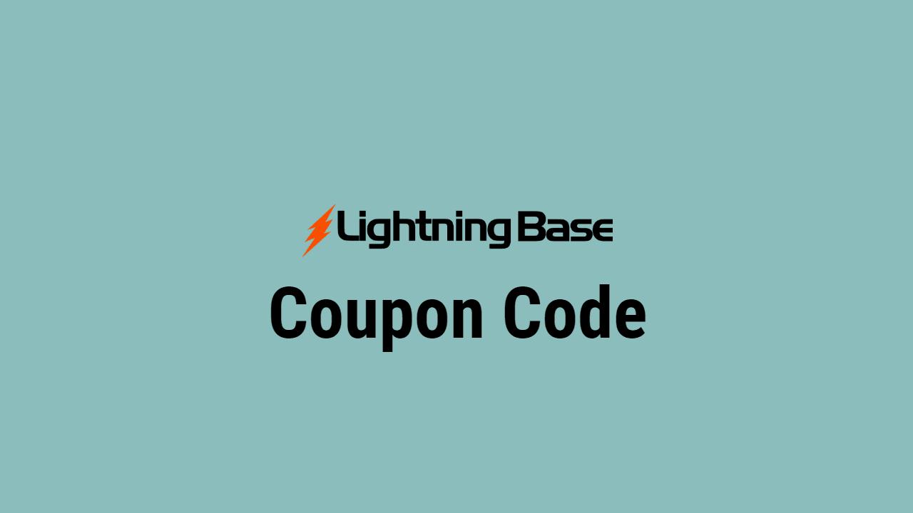 Lightning Base Coupon Code